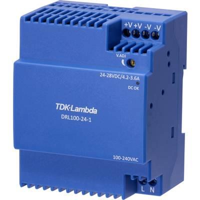 TDK-Lambda DRL-100-24-1 Rail mounted PSU (DIN) 24 V 3.67 A 100.8 W