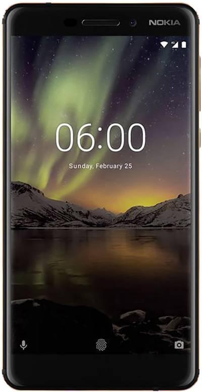Image of Nokia 6 (2018) Smartphone Dual SIM 32 GB 14 cm (5.5 ) 16 MPix Android™ 8.0 Oreo Black