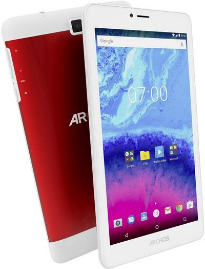 """Archos Core 70 3G Android 17.8 cm (7 """") 16 GB Wi-Fi, UMTS/3G Red (metallic) 1.3 GHz Quad Core Android™ 7.0 Nougat 1280"""