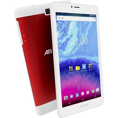"Archos Core 70 3G Android 17.8 cm (7 "") 16 GB Wi-Fi, UMTS/3G Red (metallic) 1.3 GHz Quad Core Android™ 7.0 Nougat 1280"