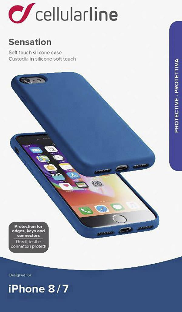 Cellularline SENSATIONIPH747B Case Apple iPhone 7, iPhone 8, null Blue