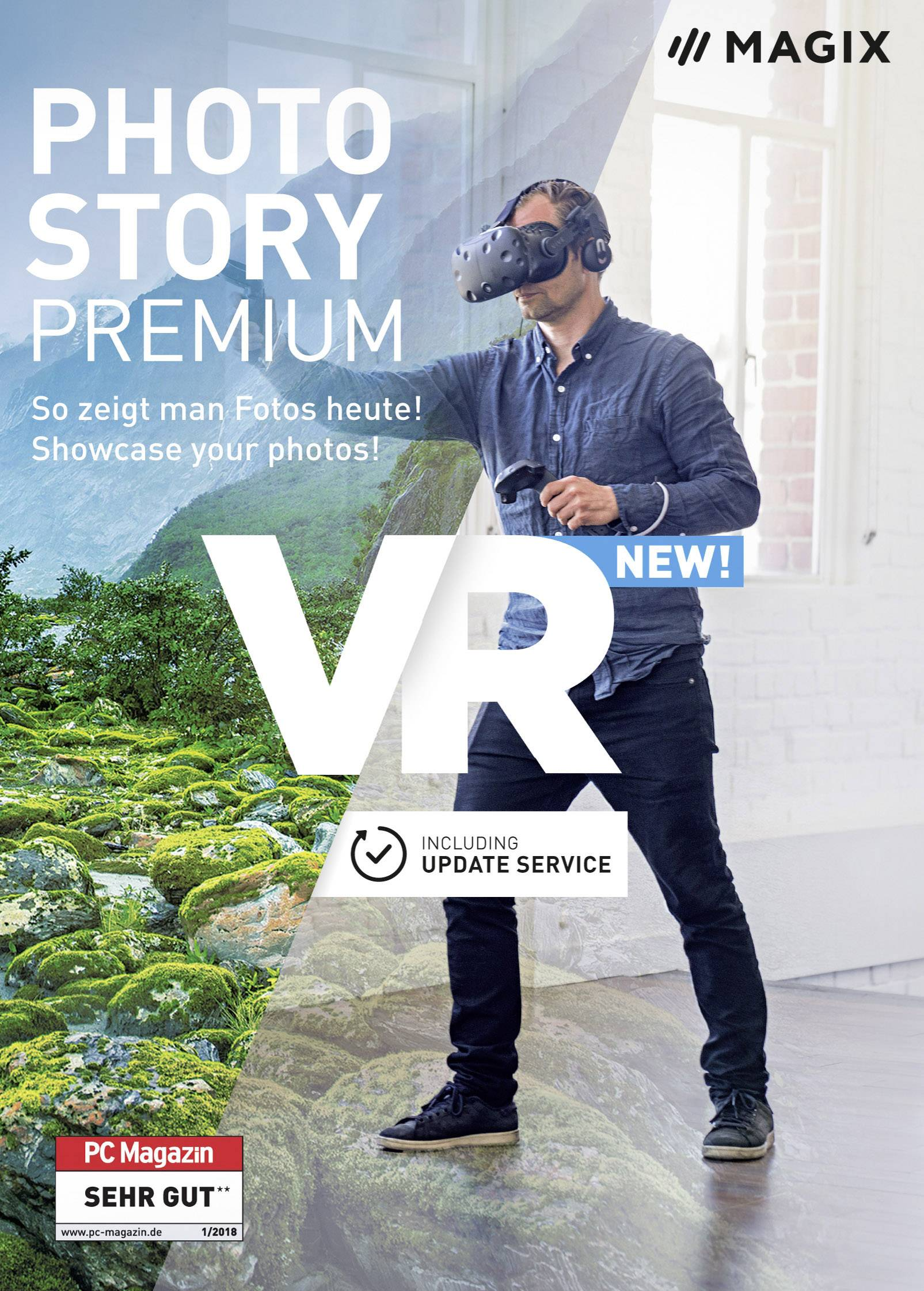 Magix Photostory Premium VR Full version, 1 license Windows