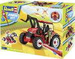 Model kit tractor with loader and figure