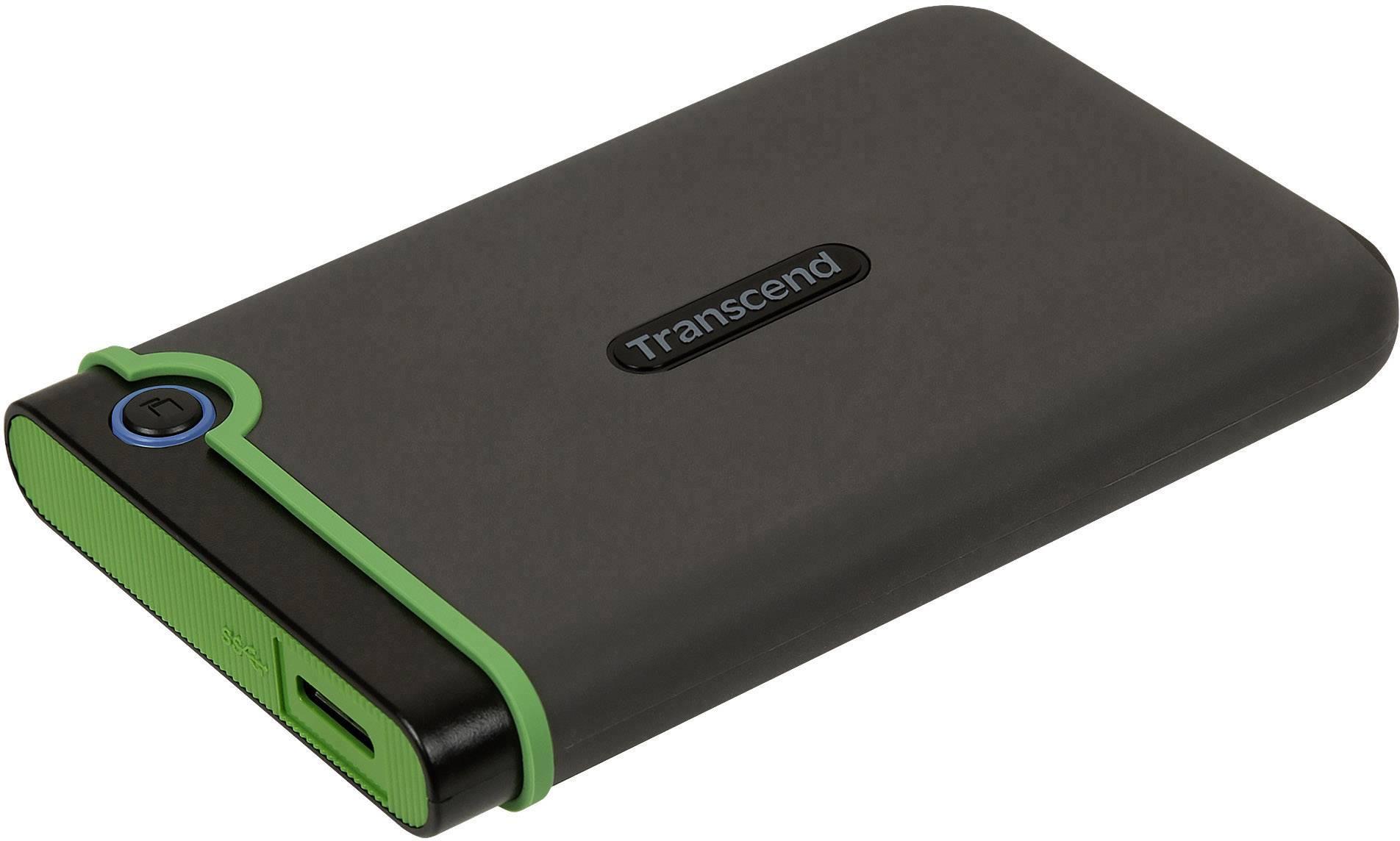 Transcend StoreJet 500GB Rugged USB 3.1 Slim External Portable Hard Drive