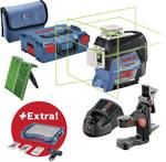 Line laser GLL3-80 CG incl. GSR 12 V-15 and 39-piece. Accessories set