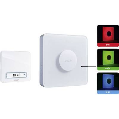 Image of m-e modern-electronics 41144 Wireless door bell Complete set backlit, incl. nameplate