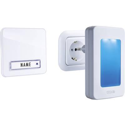 Image of m-e modern-electronics 41146 Wireless door bell Complete set incl. nightlight, incl. nameplate
