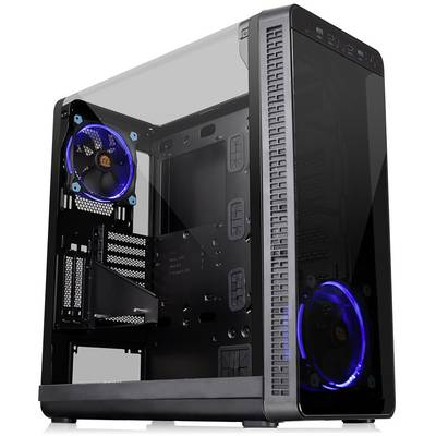 Midi tower PC casing Thermaltake View 37 Riing Edition Black 2 built-in LED fans, Window, Dust filter, LC compatibility, Suitable for AIO water coolers,