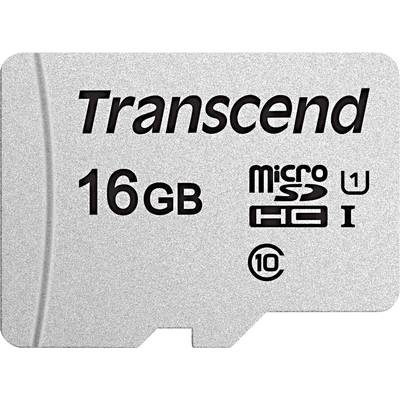 Image of Transcend Premium 300S microSDHC card 16 GB Class 10, UHS-I, UHS-Class 1