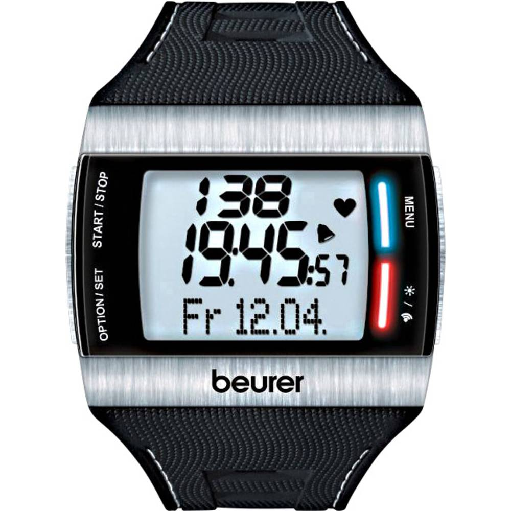 Beurer Pm 62 Heart Rate Monitor Watch With Chest Strap Black From Photo Of A Showing And