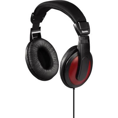 Hama Basic4Music Hi-Fi Over-ear headphones Over-the-ear Black, Red