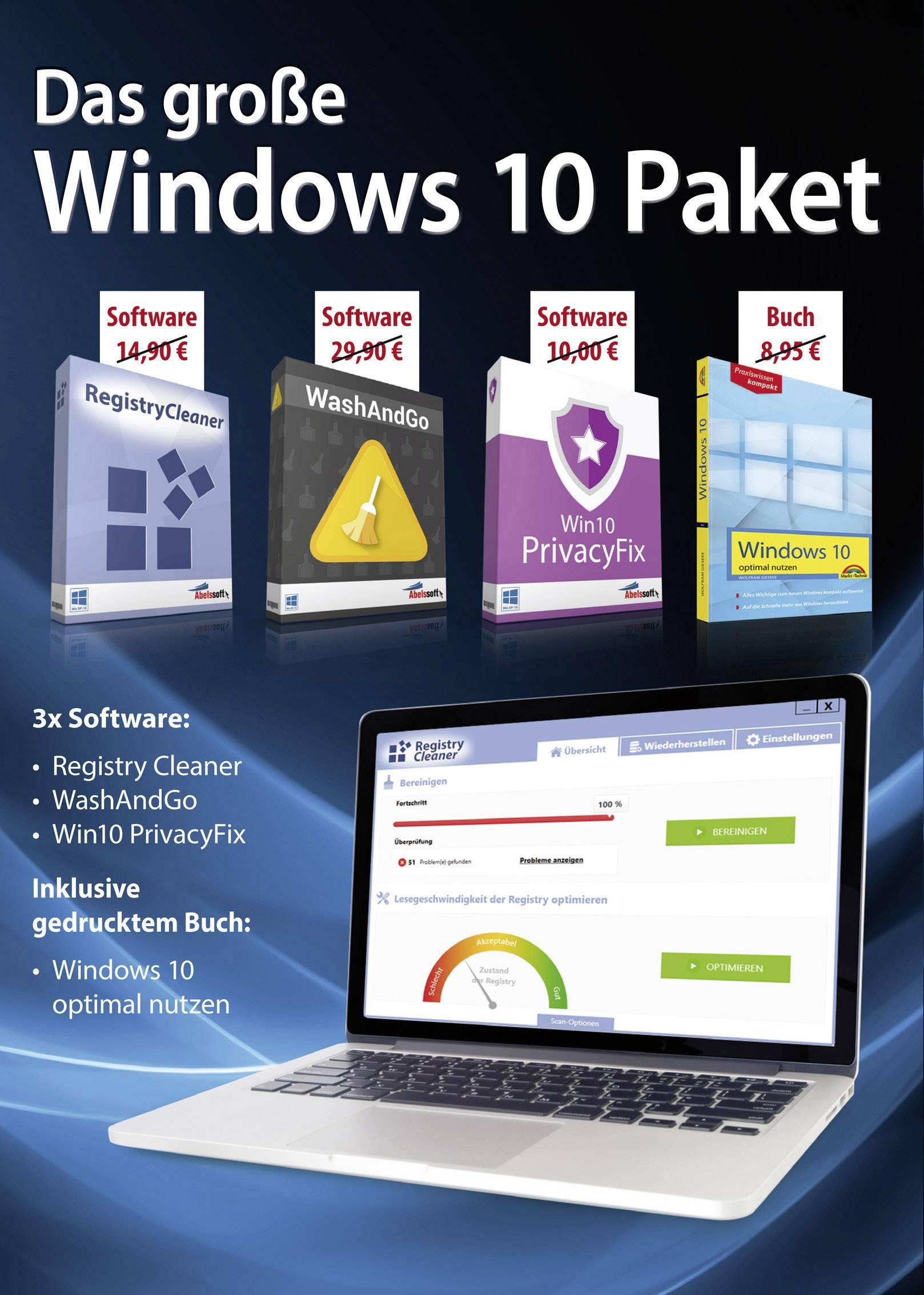 Das große Windows 10 Paket Full version, 1 license Windows Software