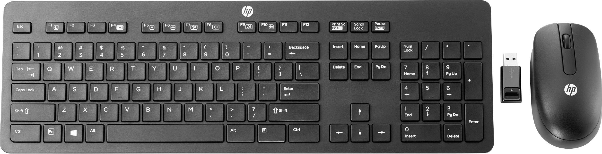 HP Slim Wireless Keyboard & Mouse Wireless keyboard/mouse