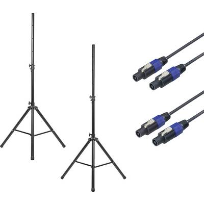 Renkforce PA speaker stand set Telescopic, Height-adjustable 1 pc(s)