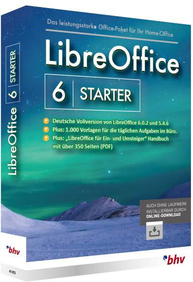 BHV Verlag LibreOffice 6 Starter Full version, 1 license