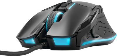 Image of Hama uRage Reaper Revolution USB gaming mouse Laser Ergonomic, Backlit, Weight trimming, Built-in user memory Black