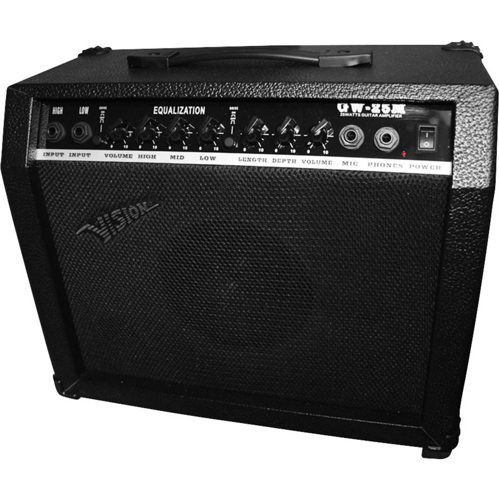Electric Guitar Amplifier Vision Gw 25m Black From Mic