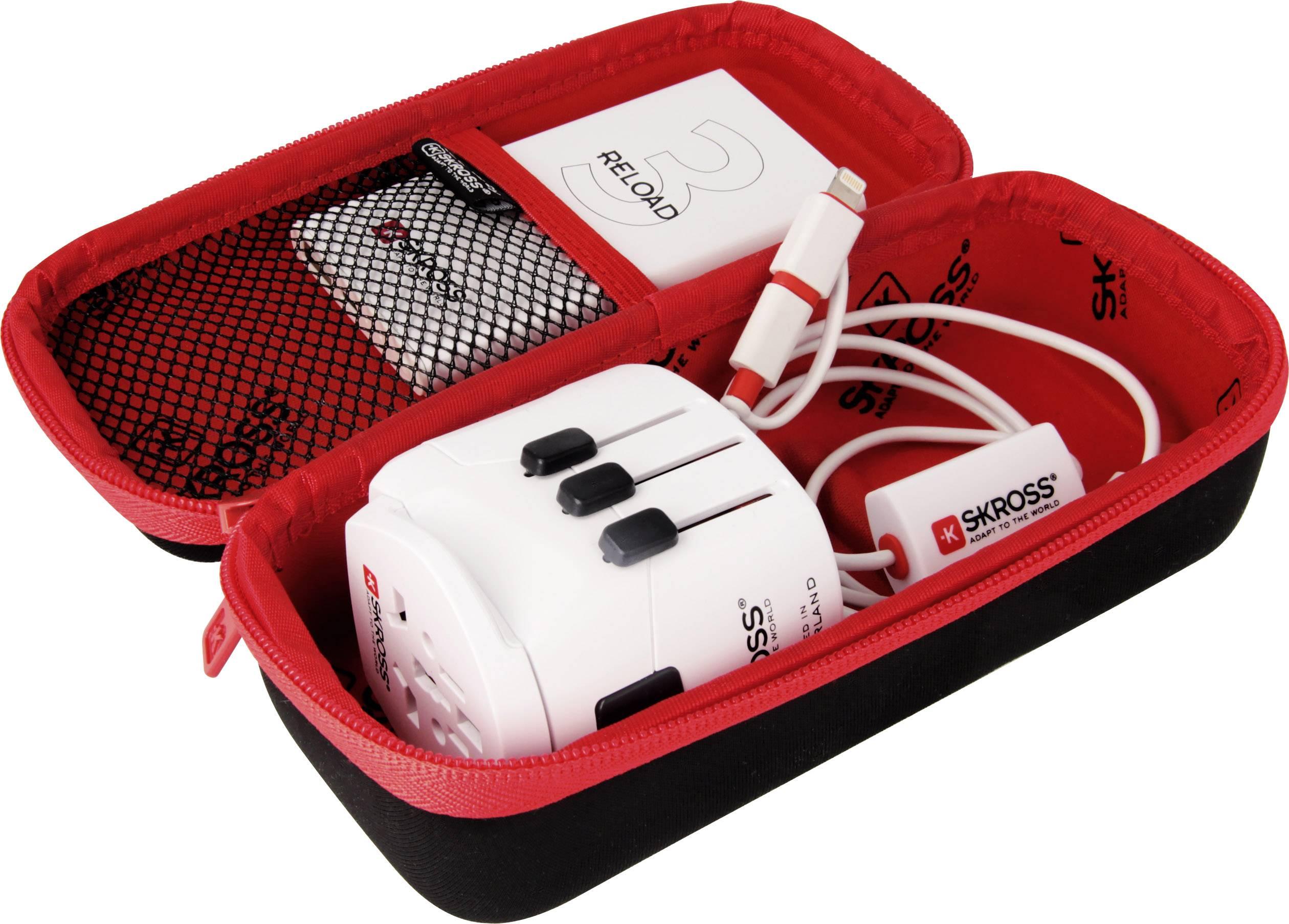 release date: a6b60 9eee0 Skross 6.100557 Travel adapter set Champion Bundle PLUS | Conrad.com