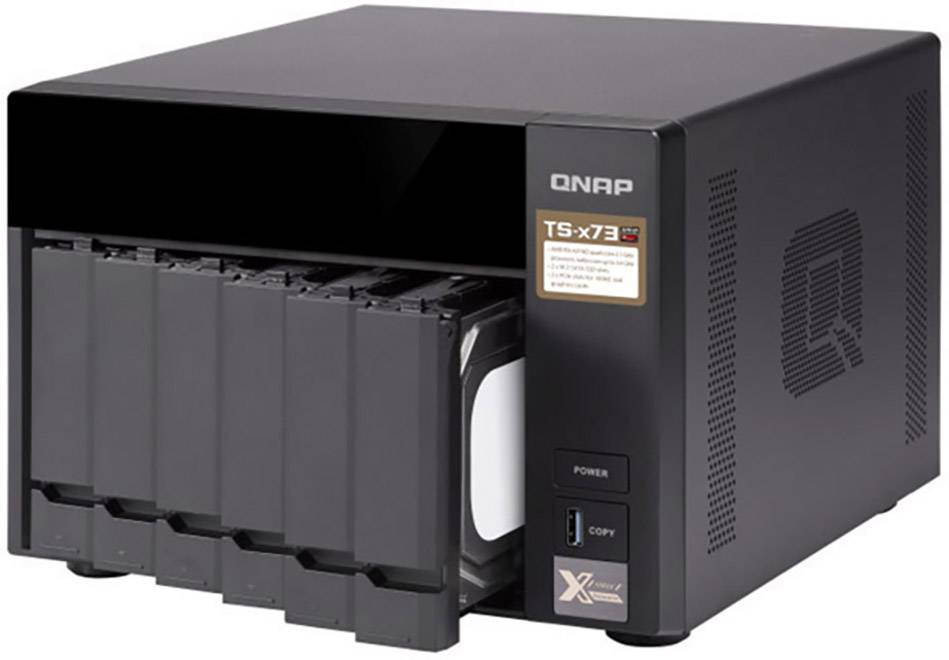 QNAP TS-673-4G NAS server casing 6 Bay 2x M2 slot | Conrad.com