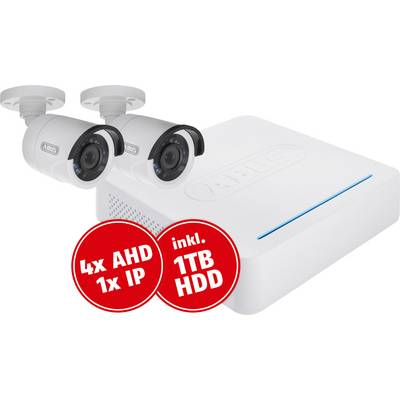 Analog, HD-TVI CCTV camera set 5-channel incl. 2 cameras 1920 x 1080 pix 1 TB ABUS TVVR33025T
