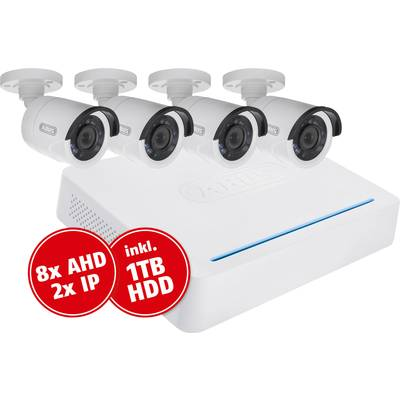 Analog, HD-TVI CCTV camera set 10-channel incl. 4 cameras 1920 x 1080 pix 1 TB ABUS TVVR33049T