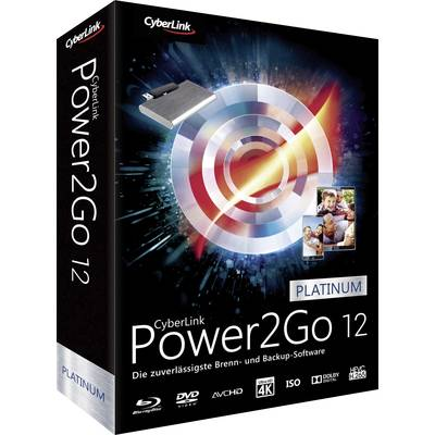 Image of Cyberlink Power2Go 12 Platinum Full version, 1 licence Windows Backup