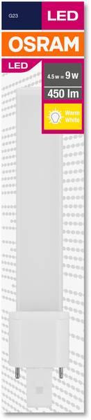G23 LED (monochrome) 4.5 W = 9 W Warm white Rod