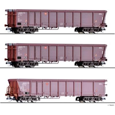 Tillig TT 01795 TT 3-piece set shutter freight wagon of DB