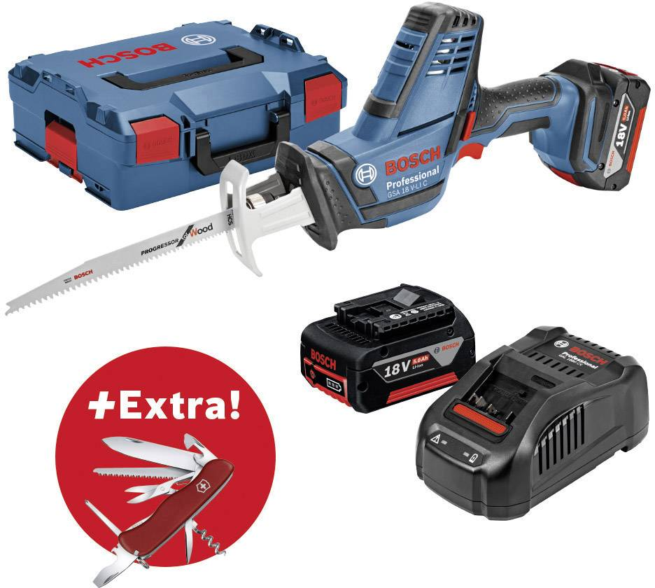 59a33bfa6c9 Cordless recipro saw incl. spare battery, incl. case 18 V 5 Ah Bosch ...