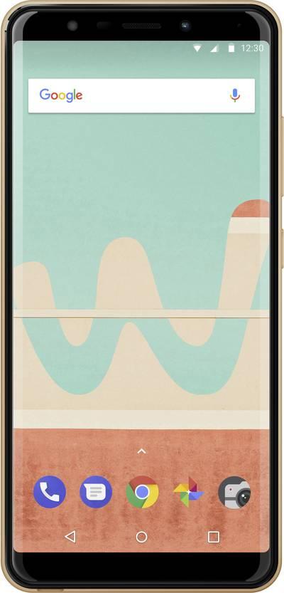 "WIKO View GO 4G Smartphone Dual SIM 16 GB 14.5 cm (5.7 "") 13 MPix Android™ 8.1 Oreo Gold"
