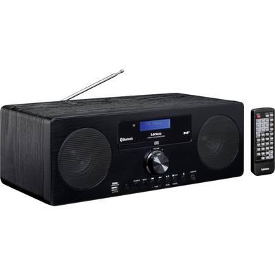 Lenco DAR-060 FM Table top radio AUX, Bluetooth, CD Black