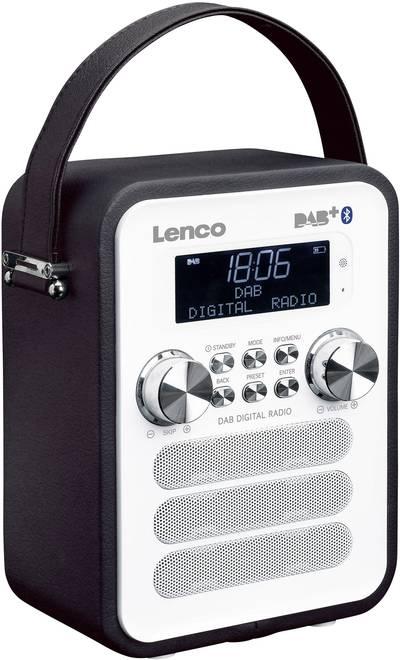 Image of Lenco PDR-050BK DAB+ Pocket radio AUX, Bluetooth Battery charger Black