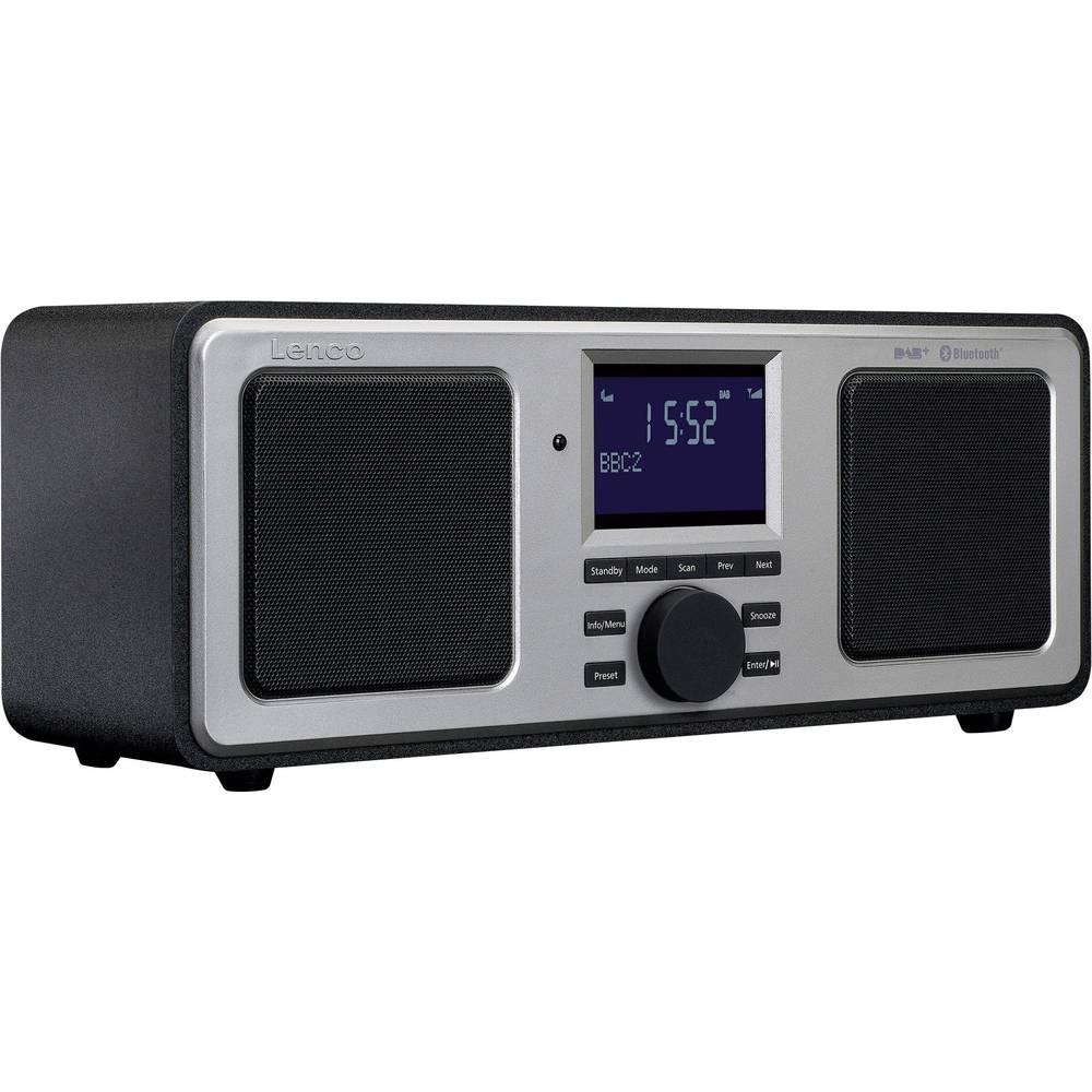 DAB+ Table top radio Lenco DAR-015BK AUX, Bluetooth from