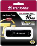 Transcend USB stick JetFlash™ 750K 16 GB USB 3.0, black