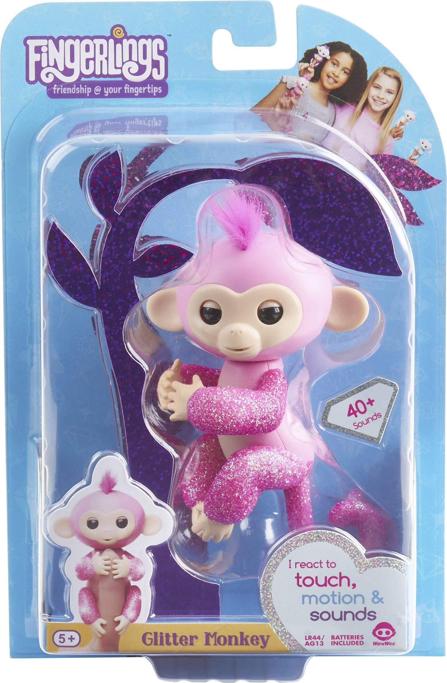 Fingerlings Rose Glitter Monkey Action Figure