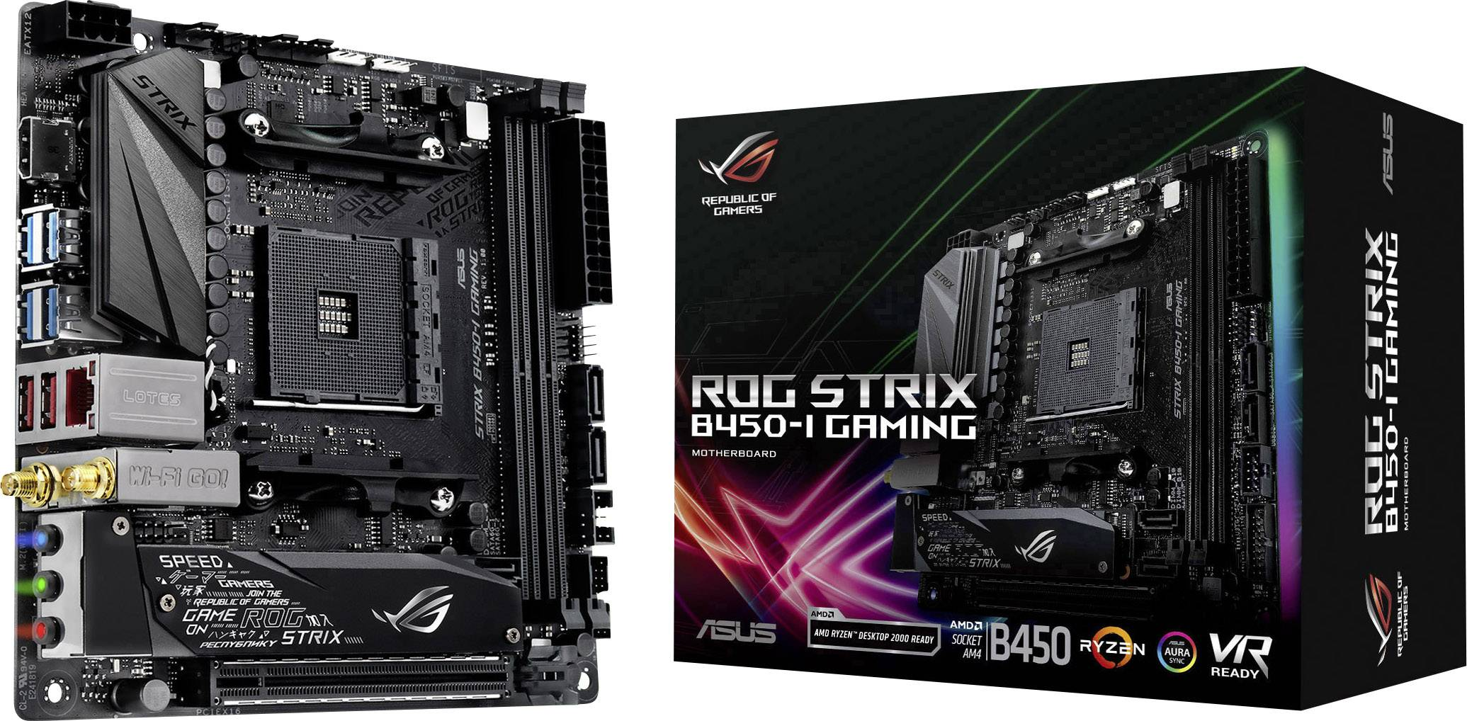 Asus ROG Strix B450-I Gaming Motherboard PC base AMD AM4