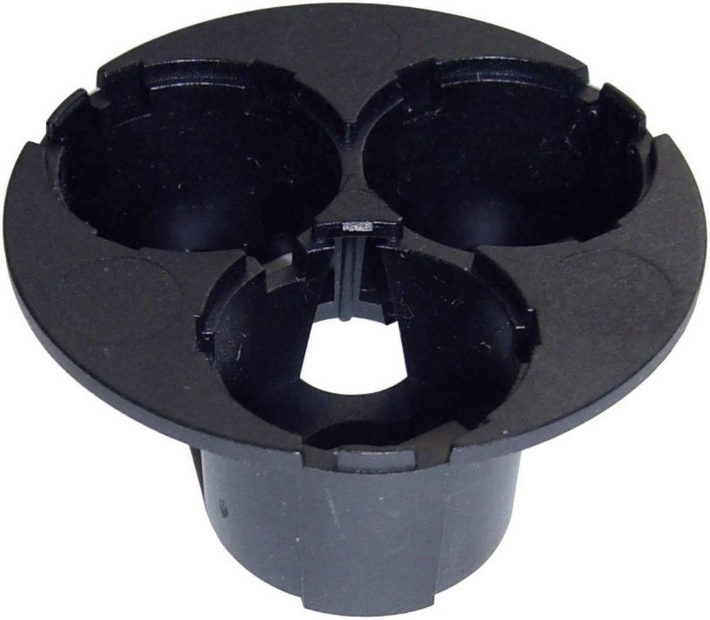 Nosač optike, crni broj LED dioda (maks.): 3 za LED: Luxeon® Star Hexagon