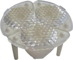 LED optika, čista, rebrasta prozorna, bela 25 °, 28 °, 30 ° št. LED diod (maks.): 3 za LED: Luxeon® Ljantarjevatian 1 W