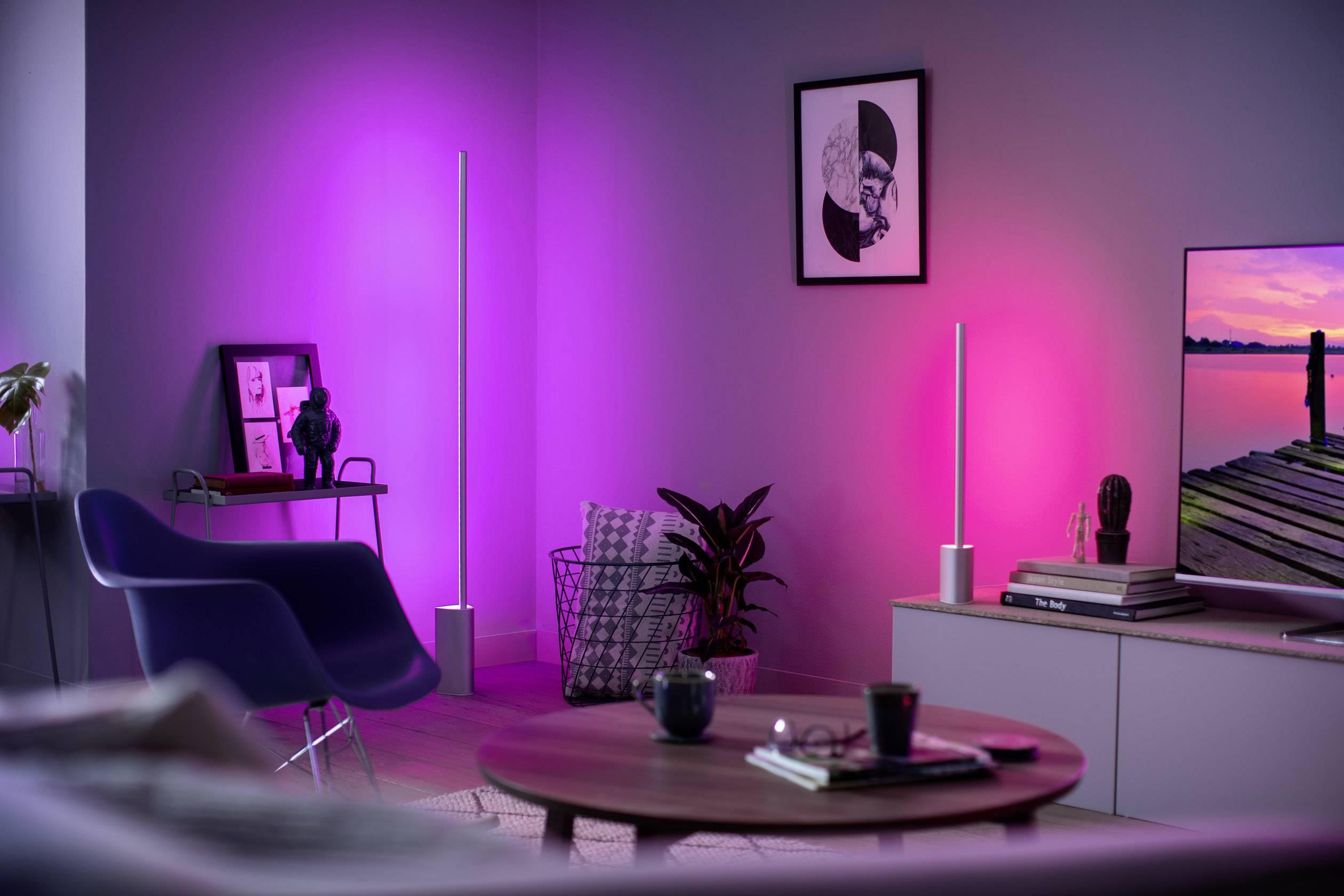 Philips Lighting Hue Led Floor Standing Light Signe Eec Led A E Built In Led 32 W Rgbw