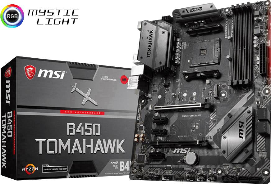 Mainboard MSI Gaming B450 Tomahawk PC base AMD AM4<