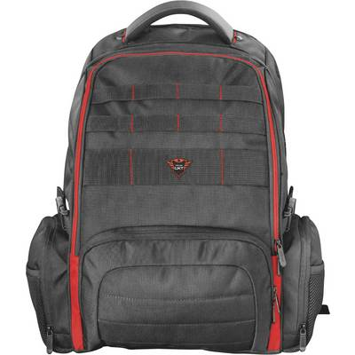 Image of Trust Laptop backpack GXT 1250 Hunter Suitable for max: 43,9 cm (17,3) Red, Black