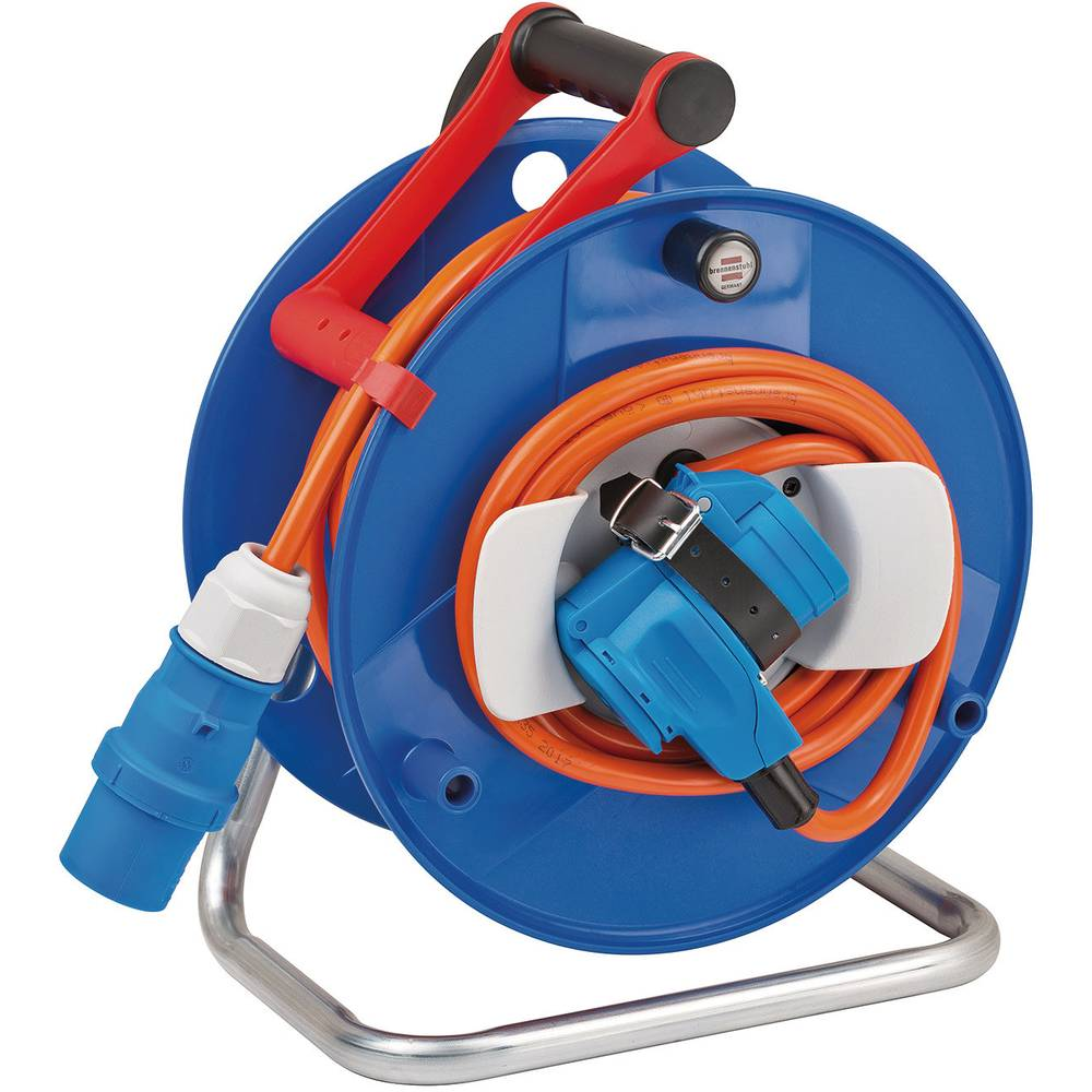 Cable reel 20 m Orange CEE plug (3-pin, 16 A) Brennenstuhl from ...