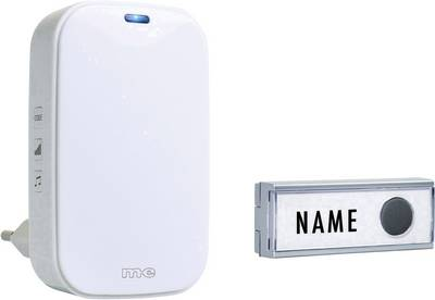 Image of m-e modern-electronics 41154 Wireless door bell Complete set incl. nameplate