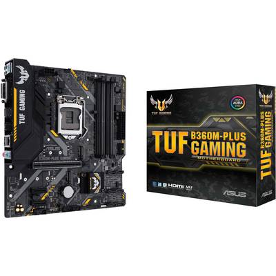 Image of Asus TUF B360M-PLUS GAMING Motherboard PC base Intel® 1151v2 Form factor Micro-ATX Motherboard chipset Intel® B360