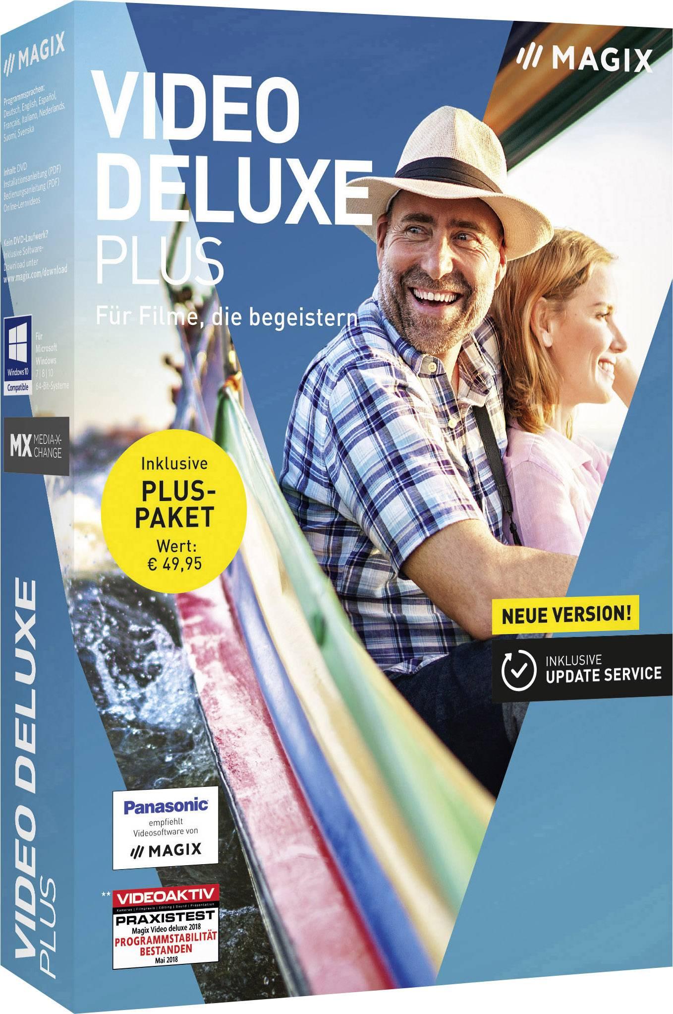 Magix Video deluxe Plus Full version, 1 license Windows