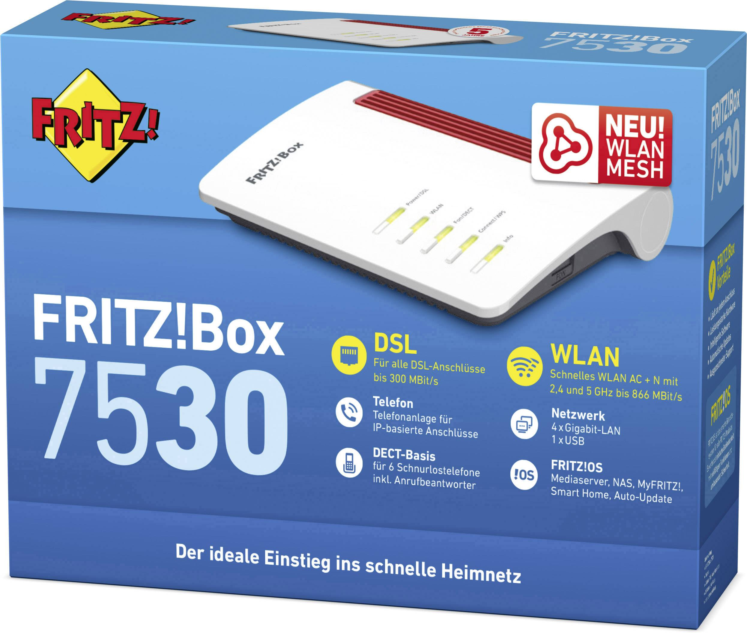 AVM FRITZBox 20 Wi Fi modem router Built in modem ADSL, VDSL ...