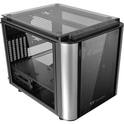 Mini tower PC casing Thermaltake Level 20VT Black Built-in LED fan, LC compatibility, Window, Dust filter