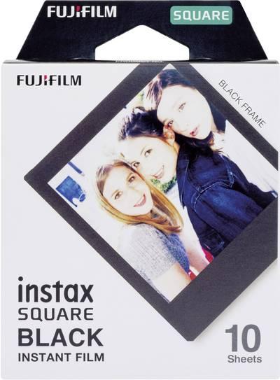 Image of Fujifilm Instax Square Film Black Frame 10 Shots