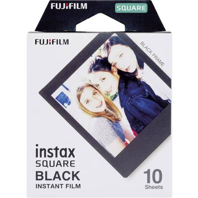 Image of Fujifilm Instax Square Film Black Frame 10 Shots