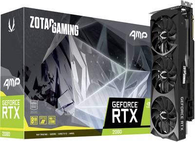 Zotac GPU Nvidia GeForce RTX2080 AMP! Edition 8 GB GDDR6 RAM PCIe x4 DisplayPort, HDMI™, USB-C™